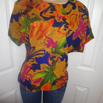 Vintage Colorful Blouse Size 10!
