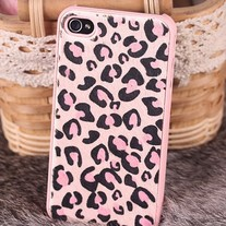 New Chic Furry Pink Leopard Pattern iPhone Case