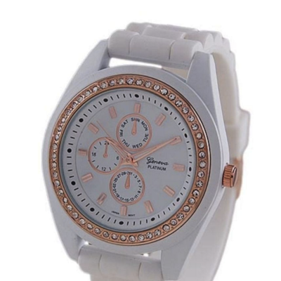 Rose gold large face cz watches