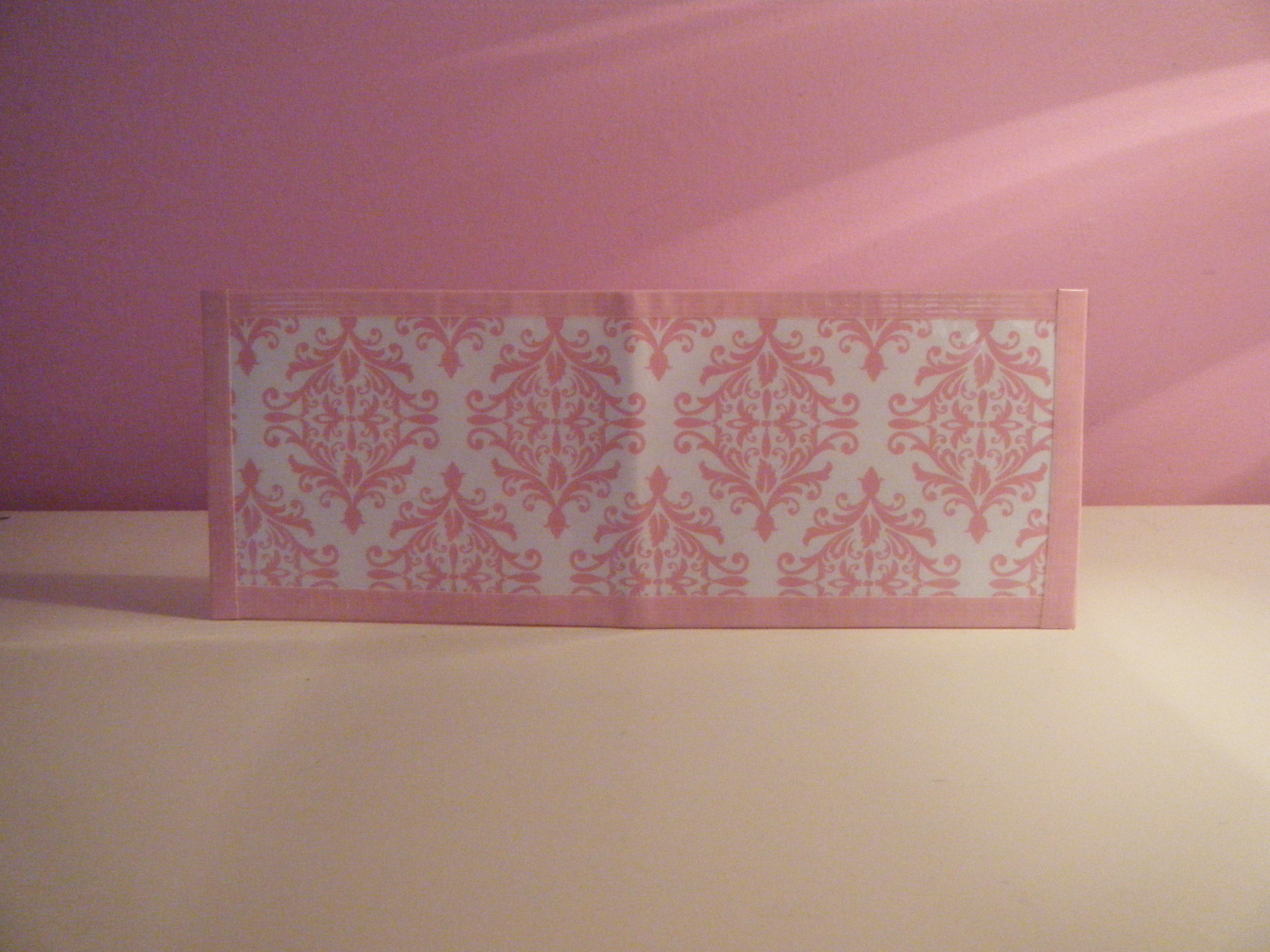 Cutecrafts007 light pink damask paper and duct tape wallet light pink damask paper and duct tape wallet aloadofball Image collections