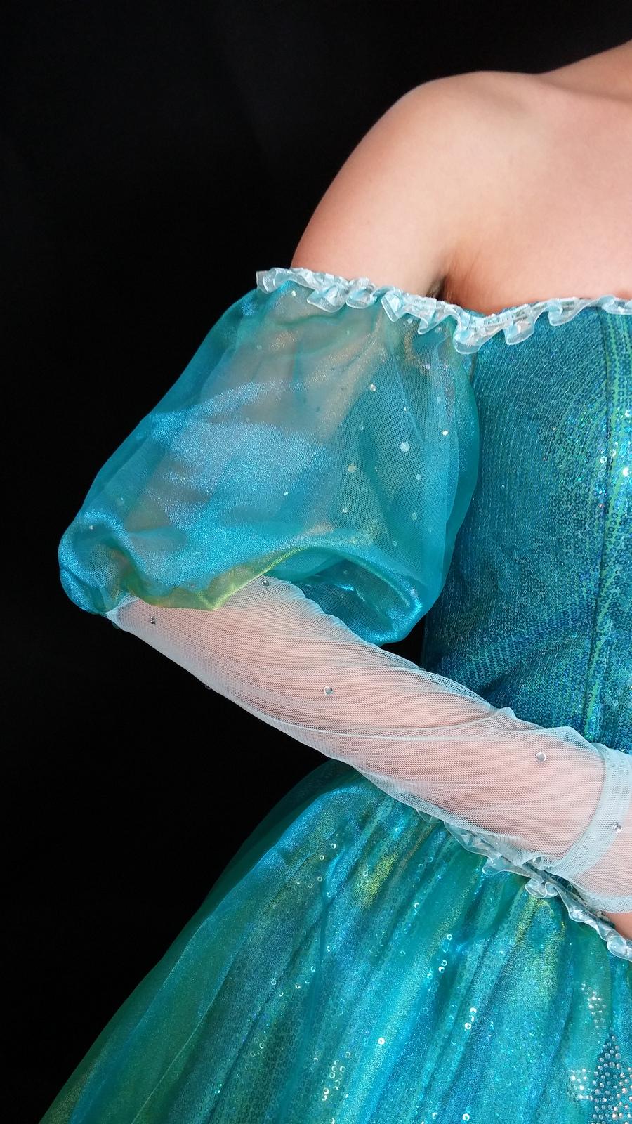 P158 with sea star rhinestone Ariel gown dress Little mermaid ...