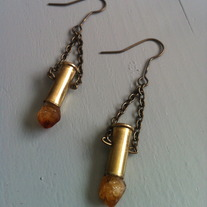 Citrine Bullet Earrings