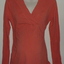 Long Sleeve Orange Shirt-Mimi Maternity Size XL
