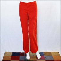 Orange Dickies Flat Front Pants