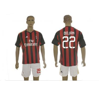 buy nfl jersey for sale | BEST PRICE 2013-2014 AC Milan #22 Bojan Home