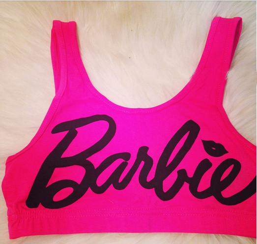 Barbie Nail Art Games Free Download: BARBIE Hot Pink Crop Tank Top On Storenvy