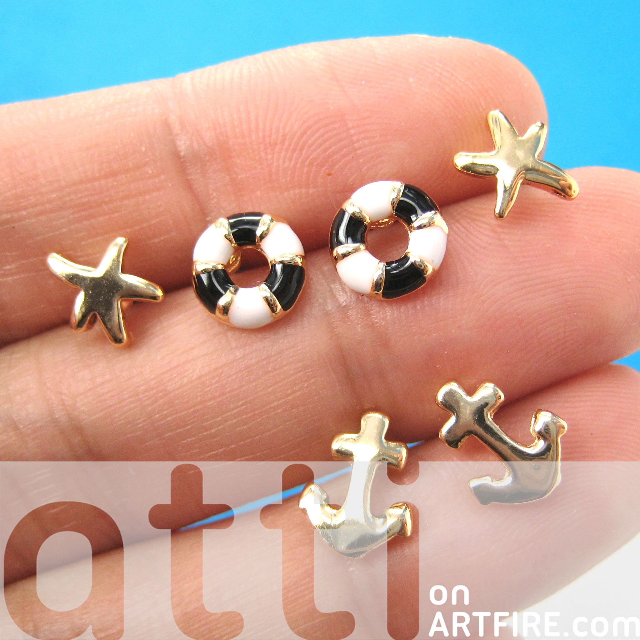starfish products wow gifts silver stud gallery earrings