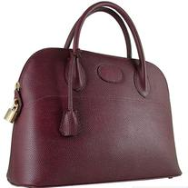 Italian Designer Leather Bag (Orione - Bordeaux)