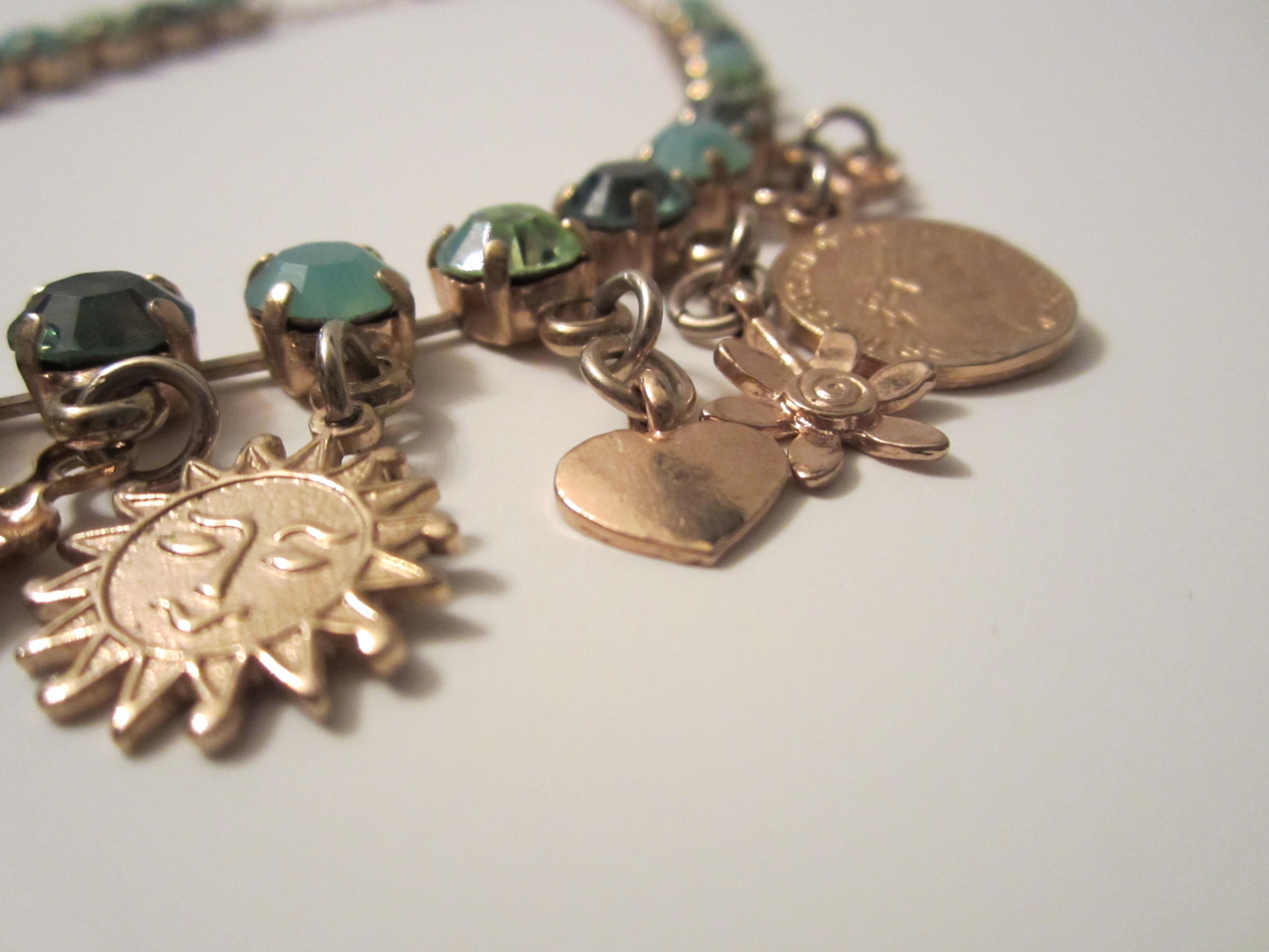 influence new emerald green swarovski charm necklace