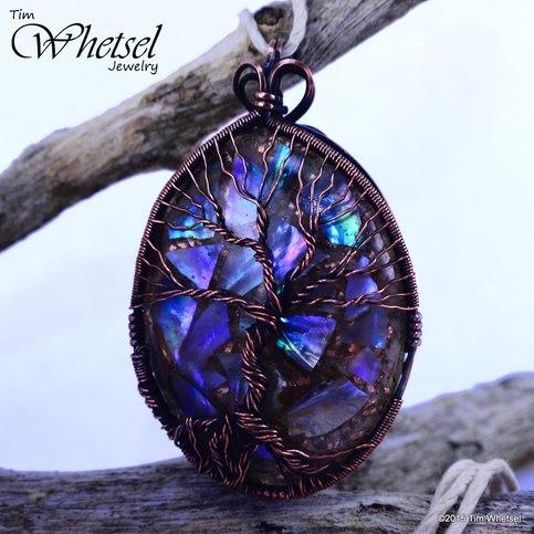 Glow in The Dark Tree of Life Orgonite Pendant