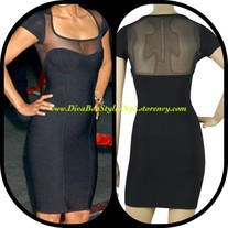 """Ginger"" Sheer Bandage Dress"