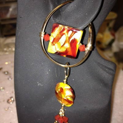 Yellow/red venetican glass