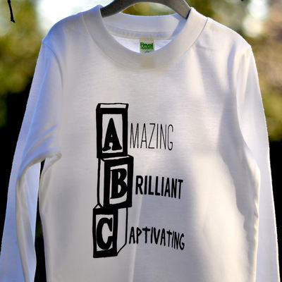 Abc long sleeve tee