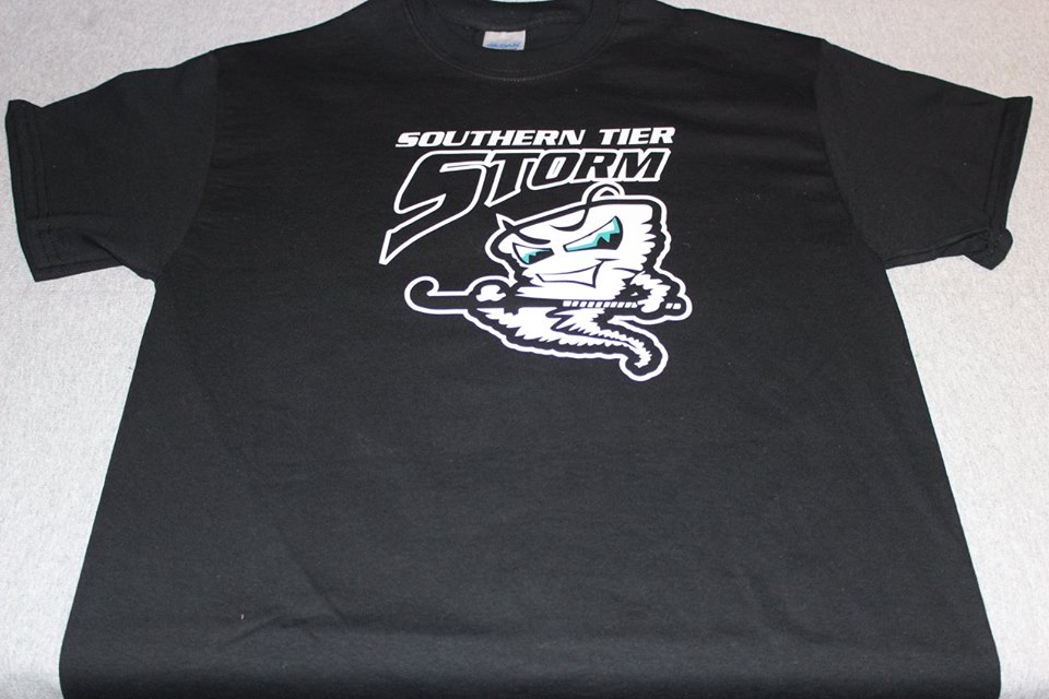 Southern tier storm black t shirt front only a 1 for T shirt design online store