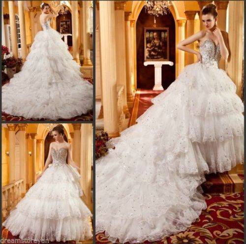Luxury White Bandage Crystal Beautiful Ball Gown · YZ Fashion ...
