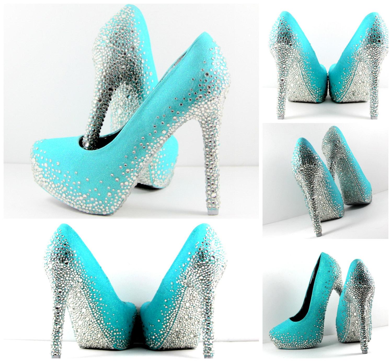 Teal Green Shoes Ladies