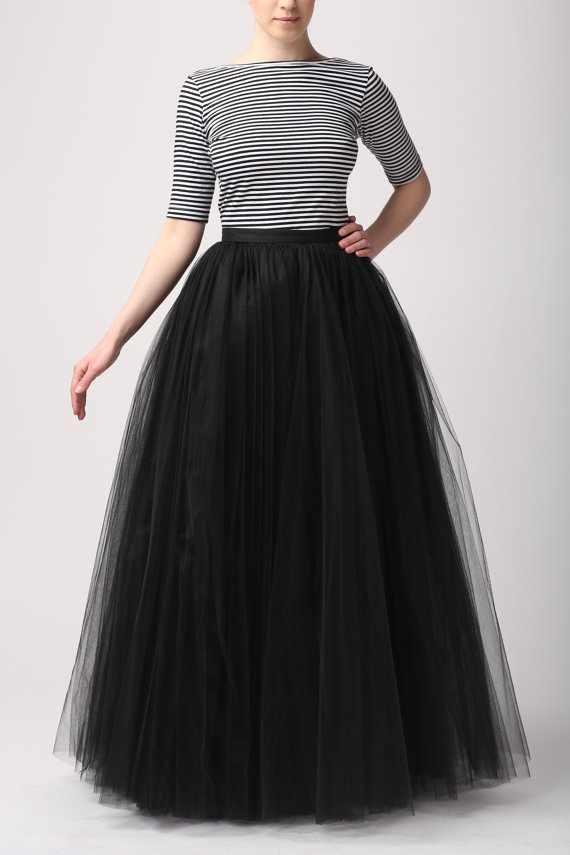 black tulle skirt skirt gown wedding