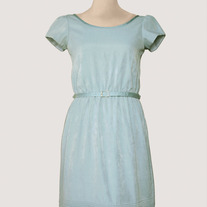 Baby Blue Scalloped Dress