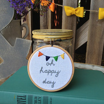 Happy Day- Mini Hoop
