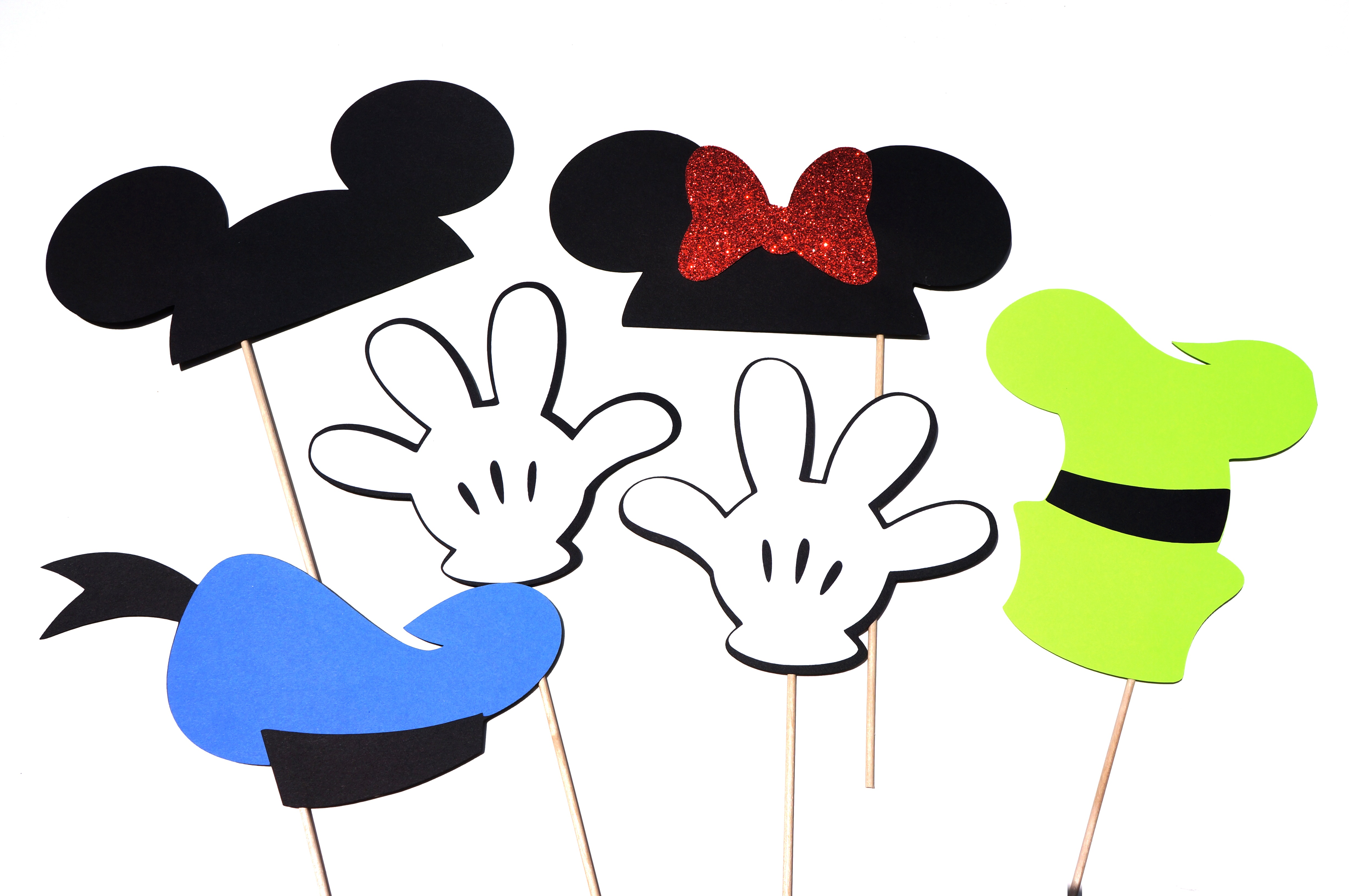 mickey and friends deluxe edition photo booth props   set Baby Mickey Mouse Clip Art Mickey Mouse Hands Clip Art