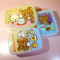 Rilakkuma Cafe Lunch Boxes (3 in 1) [KY74301]