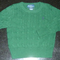 Green Sweater-Polo Ralph Lauren Size 2T