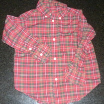 Red Plaid Shirt-Polo Ralph Lauren Size 2T
