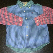 Red/Blue/Green Plaid Shirt-Tommy Hilfiger Size 3T