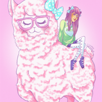 http://www.storenvy.com/Kodeekins/c/1520920-dont-mess-with-me-alpaca-punch