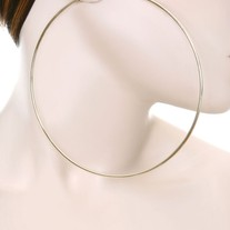 Oversized Hoop Earrings - Gold
