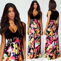 Glam girl floral maxi dress