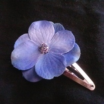 Small Blue Flower Hair Clip
