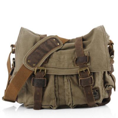 f09eddf9644f Vintage leather and canvas messenger bags mens · Vintage rugged ...