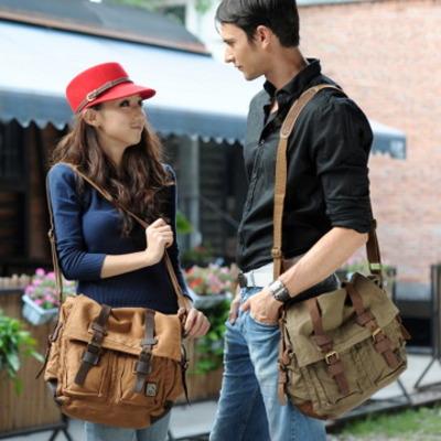 Vintage leather and canvas messenger bags mens · Vintage rugged ...