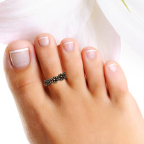 Antiqued Flower Sterling Silver Toe Ring