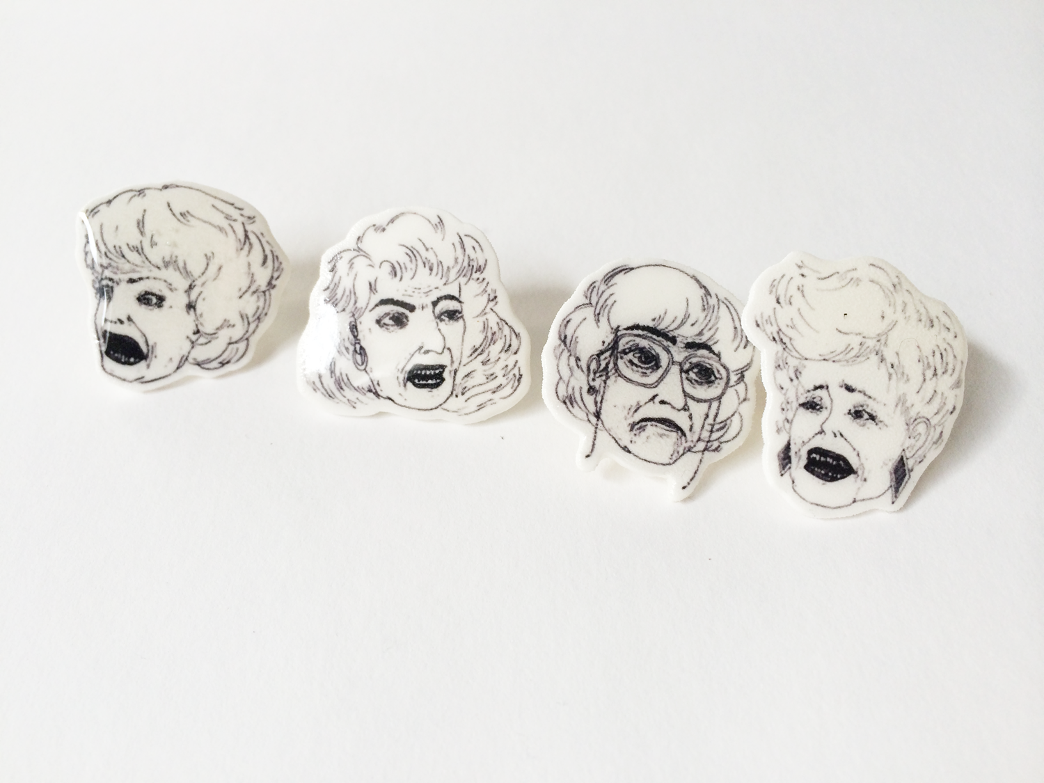 the golden girls collection illustrated pins little otto. Black Bedroom Furniture Sets. Home Design Ideas