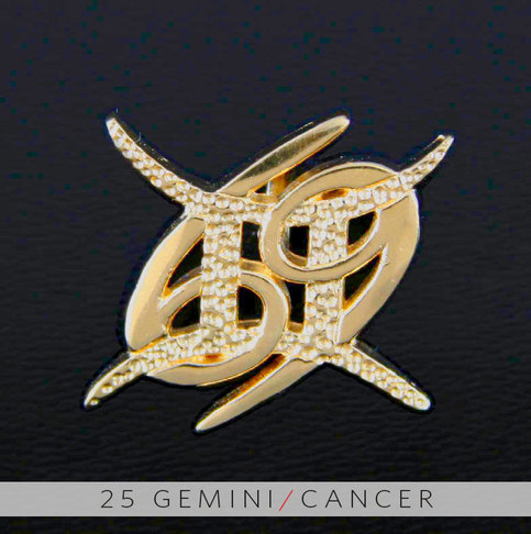 25 gemini and cancer gold unity pendant on storenvy for Gemini and cancer tattoo