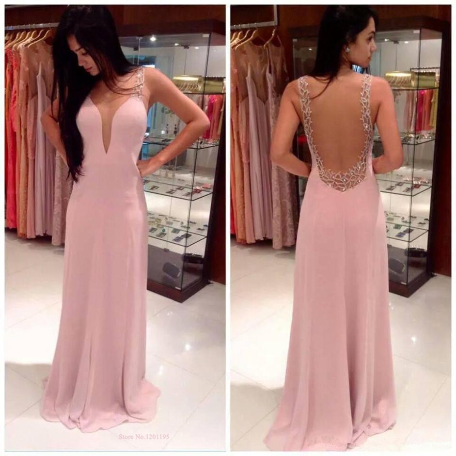 V-Neck Prom Dress, Sexy Prom dress, Long prom dress, Online Prom ...