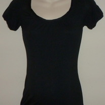 Black Short Sleeve Shirt-Liz Lange Maternity Size XS  SF0413