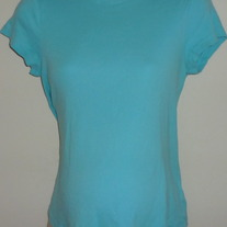Light Blue Short Sleeve Shirt-Motherhood Maternity Size Small  SF0413