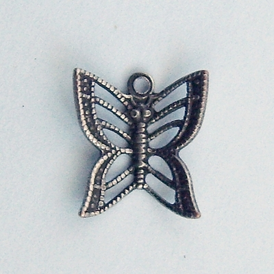 Filigree butterfly silver small