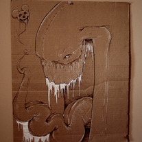 Cardboard Creep Drawing
