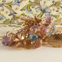 Cluster of Lavender Gemstone Earrings