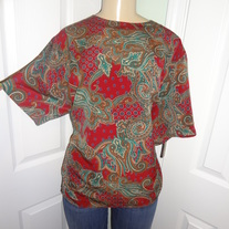Vintage Plus Size Burgundy Blouse Size 18!