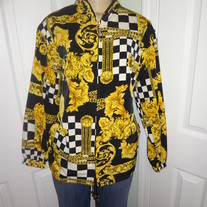 Vintage Black and Gold Jacket Size 14/16!!