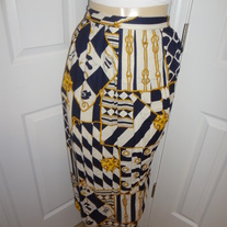 Nauctical Plus Size Vintage Skirt Size 18
