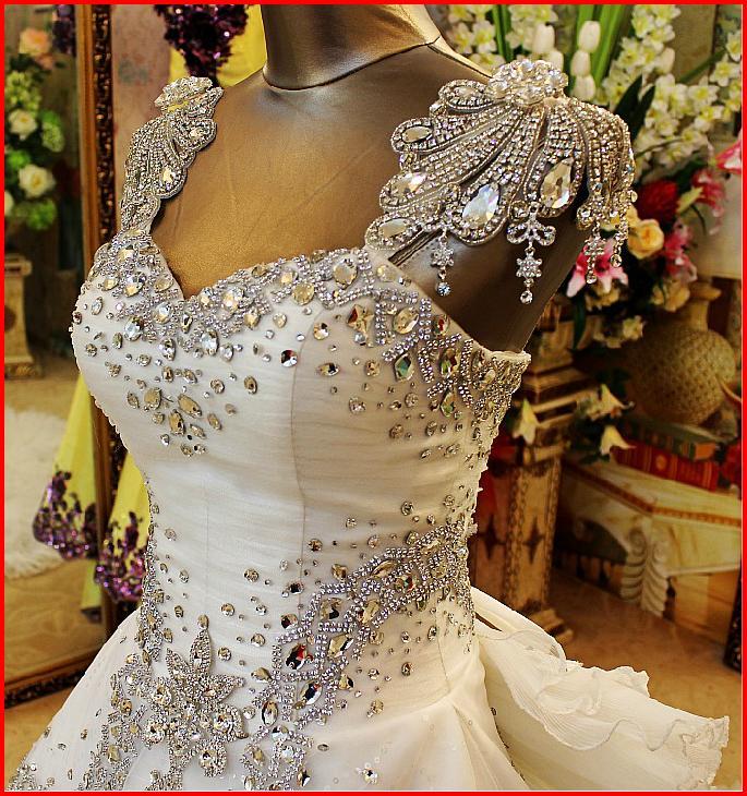 YZ New Arrival Gorgeous Luxurious Swarovski Crystals Bridal Wedding Dress VCXC · YZ Fashion ...