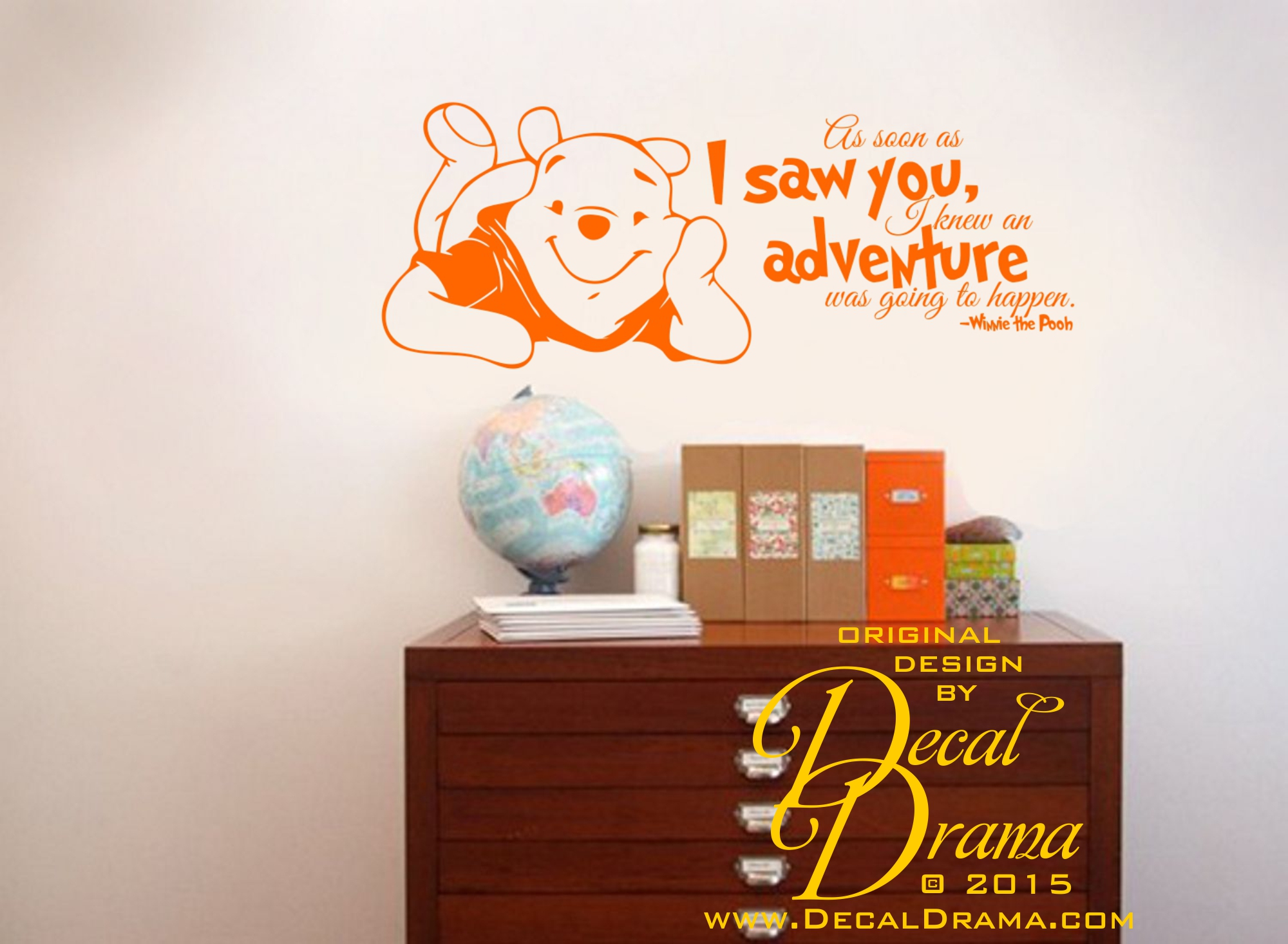 Decal drama i knew an adventure was going to happen winnie pooh i knew an adventure was going to happen winnie pooh disney vinyl wall amipublicfo Choice Image