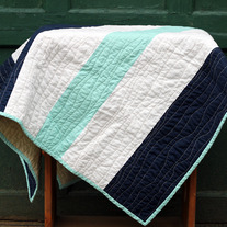 Nautical Stripes Baby Quilt
