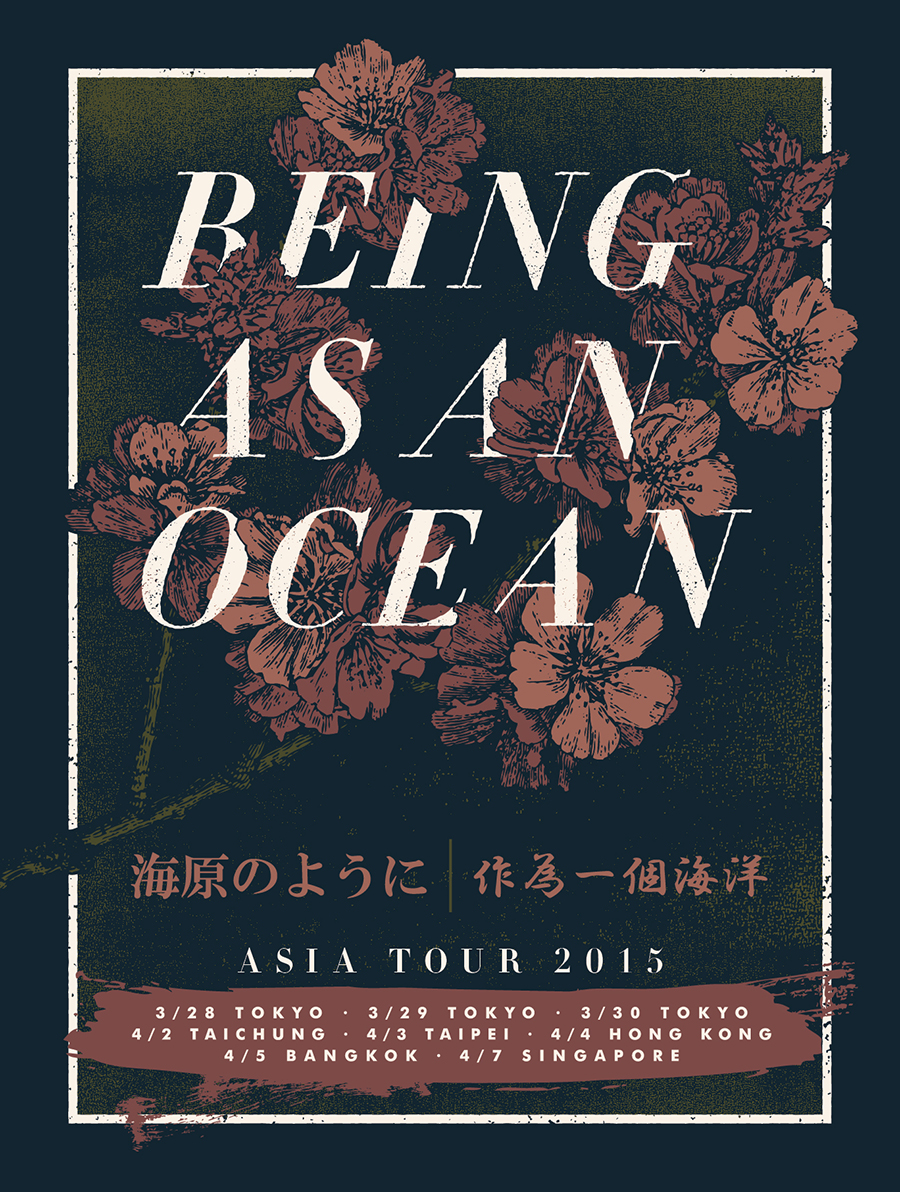 Charlie Wagers Creative | Being As An Ocean - Asia Tour Poster ...